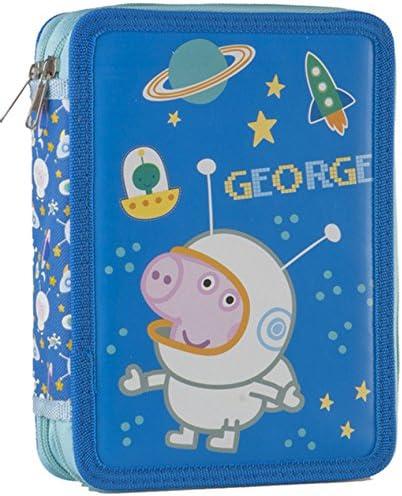 Peppa Pig – Estuche escolar escolar completa Peppa Pig George sobre la luna: Amazon.es: Oficina y papelería