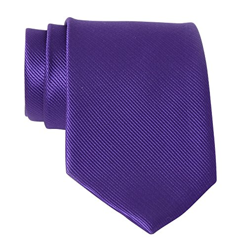 Mens Dark Purple Indigo Solid Color Neckties Business Formal Dress Ties for Men