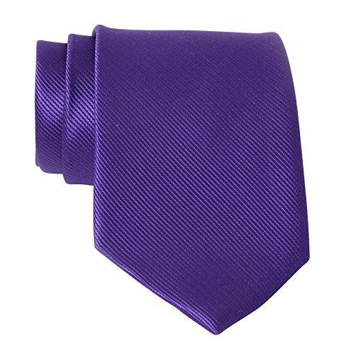 QBSM Mens Dark Purple Indigo Solid Neckties Business Formal Dress Neck - Dress Color Indigo Purple