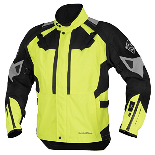 (Firstgear 37.5 Kilimanjaro Textile Womens Jacket, Distinct Name: DayGlo/Black, Gender: Womens, Primary Color: Yellow, Size: 2XL, Apparel Material: Textile)