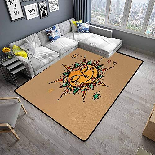 Sun,Floor Mat for Toilet Non Slip 24