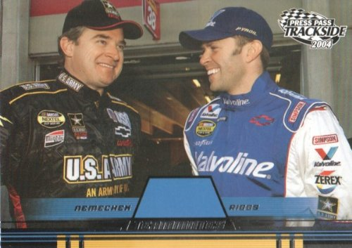 2004 Press Pass Trackside NASCAR Racing #73 Joe Nemechek/Scott Riggs Teammates (Riggs Scott Nascar)