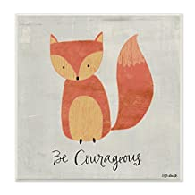 The Kids Room by Stupell Be Courageous Fox Graphic Art Wall Plaque