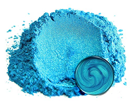 "Eye Candy Mica Powder Pigment ""Okinawa Blue"" (50g) Multipurpose DIY Arts and Crafts Additive 