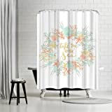 Americanflat Take Me to the Sea Coastal Print Shower Curtain by Jetty Printables, 74' H x 71' W x 0.1' D