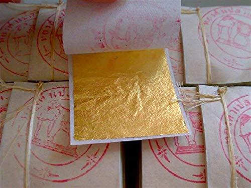 Gold Leaf Sheets 999/1000 Real Gold : 100 Gold Leaf - Gold Leaf Imitation