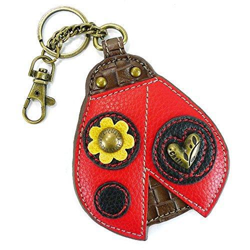 - Chala Key Fob/Coin Purse-Ladybug, Red & Black