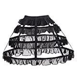 CosplayDiy Women's Prom Dress Petticoat Crinoline One Size Black