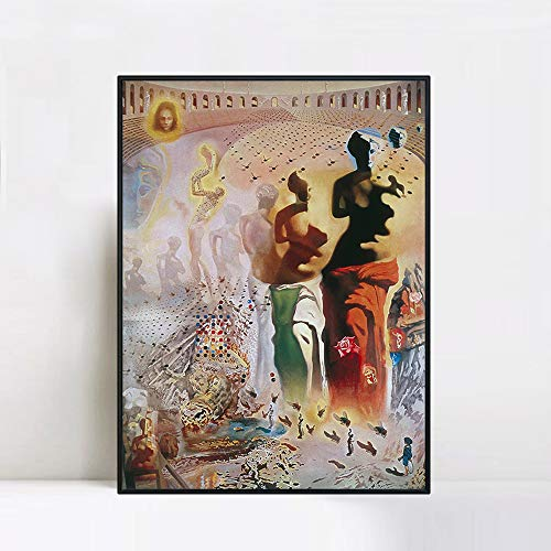 INVIN ART Framed Canvas Giclee Print Art The Hallucinogenic Toreador by Salvador Dali Wall Art(Black Slim Frame,24