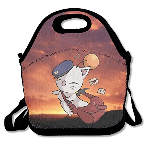 Delivery Moogle Final Fantasy Fashion Pocket Canvas With Zipper And Adjustable Crossbody Strap