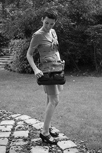 Main modèle cuir Gd femme Bleu Modèle Fonce bandoulière Avril Sac à UqaHg