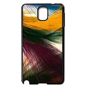 Samsung Galaxy Note 3 Case,Colorful Peacock Feathers Hard Shell Back Case for Black Samsung Galaxy Note 3 Okaycosama356516