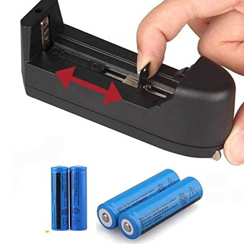 4 Pc Illustrious Popular 18650 Battery Chargers Portable Devices Power Tools Emergency Lighting Rundom Batteries Li-ion Red/Blue/Yellow