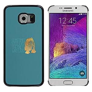 Caucho caso de Shell duro de la cubierta de accesorios de protección BY RAYDREAMMM - Samsung Galaxy S6 EDGE - Único que se preocupa - Funny R2 D2