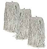 Tricol 38483 Screw-Tip Wet Mop Replacement Heads, 20-Ounce,...