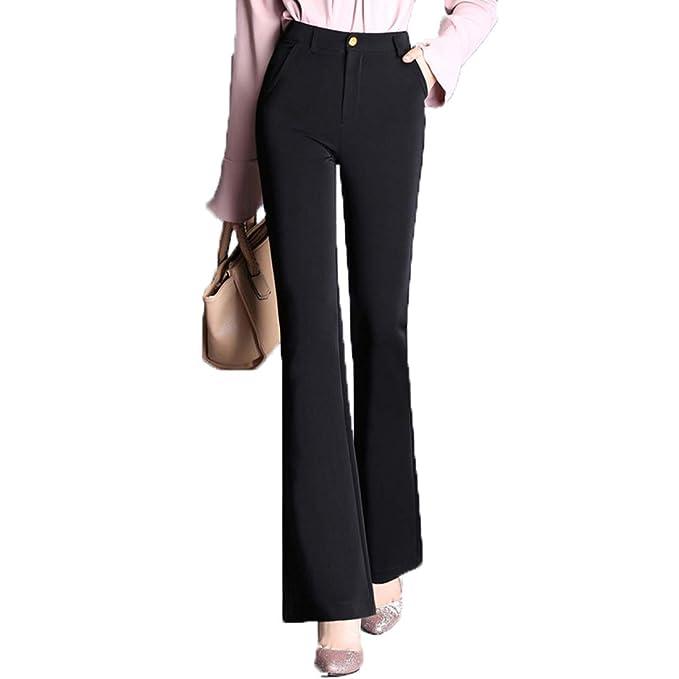 Cintura Alta Vita Flare Tiadi Donna Casual Pantaloni Una q1ZPPt