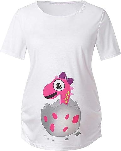GUCIStyle Camisetas para Mujeres Maternidad Divertidas Manga Corta Verano, Ropa Premamá Blusas Embarazadas Graciosas Tops Pascua Tallas Grandes: Amazon.es: Ropa y accesorios