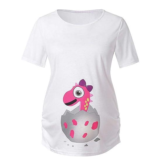5b172aaa8 GUCIStyle Camisetas para Mujeres Maternidad Divertidas Manga Corta Verano
