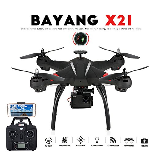 Toy, Play, Fun, Professional Drone BAYANGTOYS X21 Brushless Double GPS WIFI FPV With 1080P HD Camera RC Quadcopter With Transmitter and GimbalChildren, Kids, Game