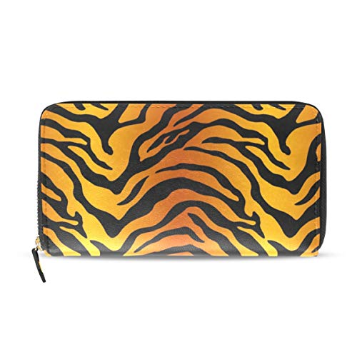 Tiger Clutch (Wallet Clutch Tiger Stripe Print - Organizer Card Holder Purse, CoTime PU Leather Handbag for Men Women)