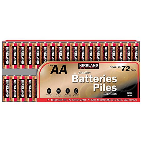 Kirkland Signature 1.5-V, AA Alkaline Batteries: 72-Pack (Kirklands Lamps)