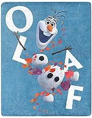 "Northwest Enterprises Disney Frozen 2 Olaf Silky Soft Throw Blanket 40"" x 50"" Olaf's Adventures II"