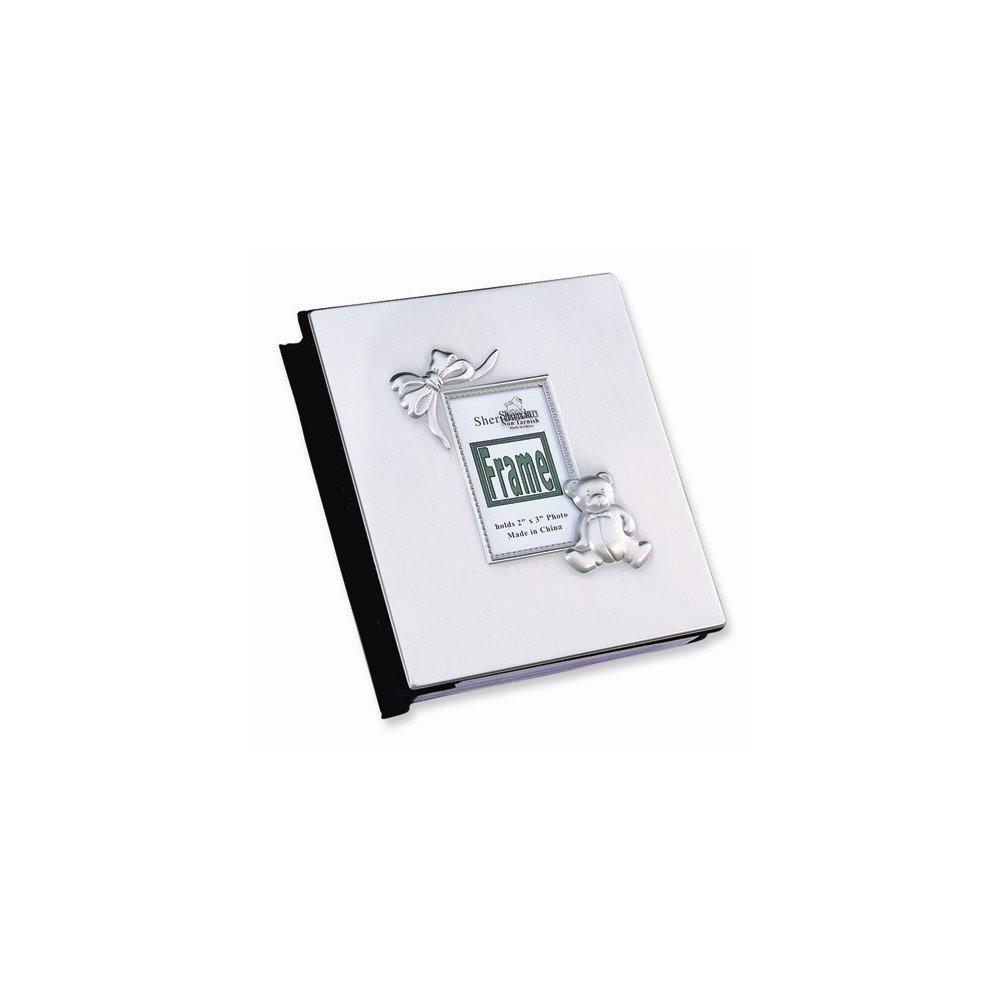 Pewter Finish Baby Holds 100 - 4x6 Photo Album 14k.co GO-GP52994Z