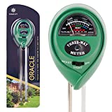 Zeemplify Premium 3-in-1 Soil Tester Meter (Moisture, pH & Light) With Bonus Garden Plant Tags ✶ Suitable For Houseplants, Outdoor Plants, Bonsais, Succulents, Trees, Grass and Lawn