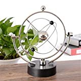 Electronic Perpetual Motion,Magnetic Swing Kinetic Art Asteroid Balance Balls Desk Toy Gift Executive Office Home Decoration