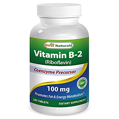 Best Naturals Vitamin B2 Riboflavin 100 mg 180 Tablets
