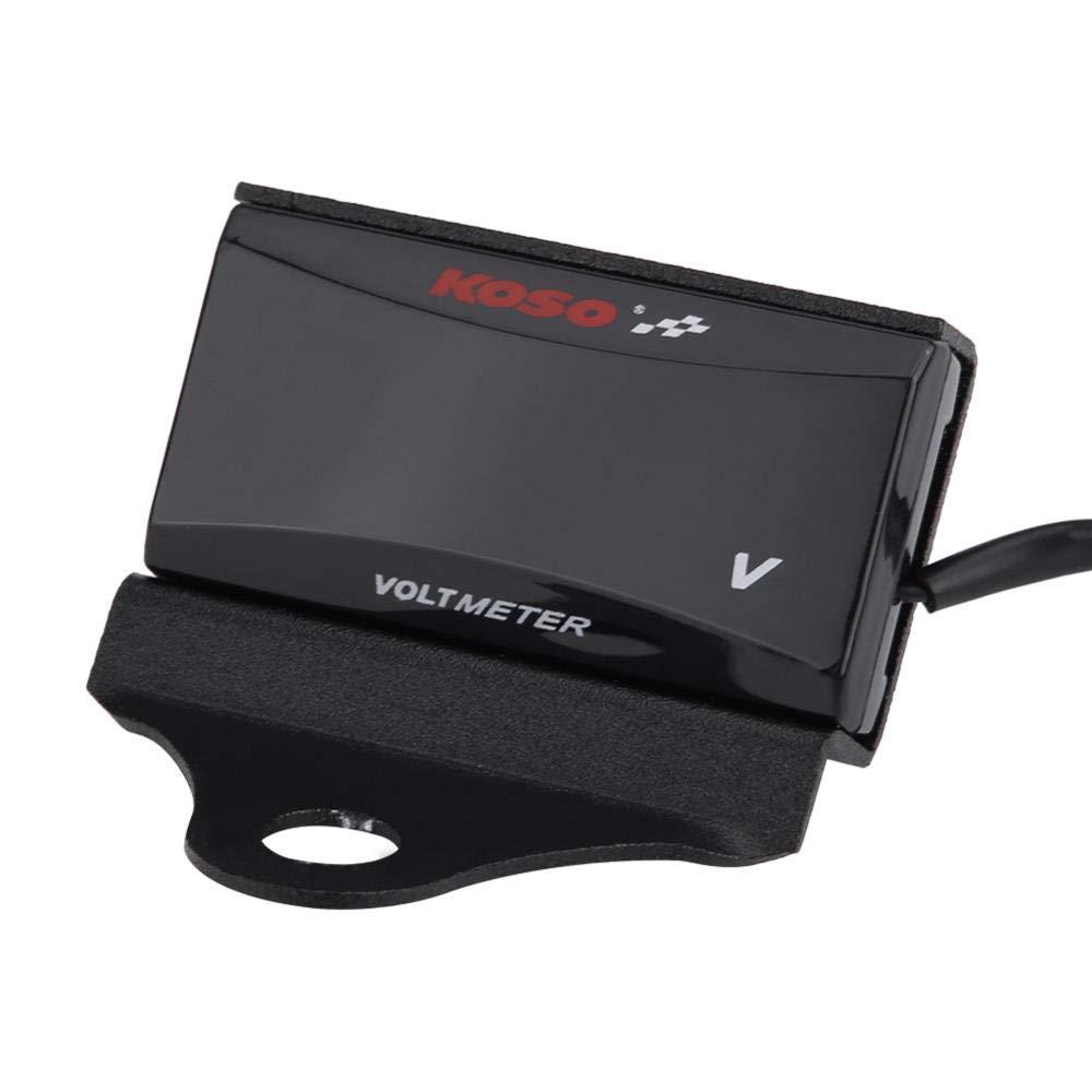Soporte de montaje del volt/ímetro Black soporte universal del medidor de temperatura del agua del soporte del volt/ímetro de la motocicleta Soporte de soporte Negro//Titanio