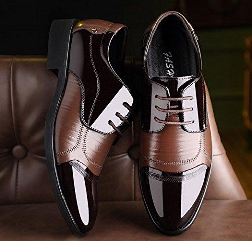 Hommes Affaires Robe Chaussures De Mode Casual Chaussures De Mariée À Lacets Britannique Pointu Brown AOnWqsjy3