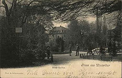 Amazoncom Stadt Garten Winterthur Switzerland Original Vintage