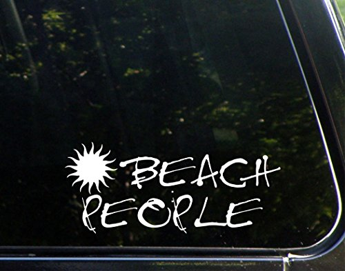 "Beach People - 8 3/4""x 3 3/4"" - Vinyl Die Cut Decal / Bumper Sticker For Windows, Trucks, Cars, Laptops, Macbooks, Etc."