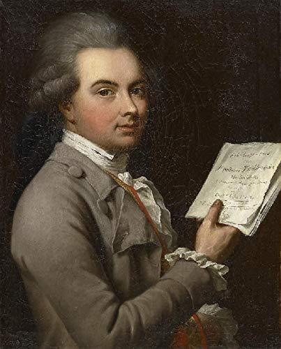 "Price comparison product image Johann Heinrich Tischbein The Elder Portrait of Ernst Christoph Dressler 1780 Private Collection 30"" x 24"" Fine Art Giclee Canvas Print (Unframed) Reproduction"