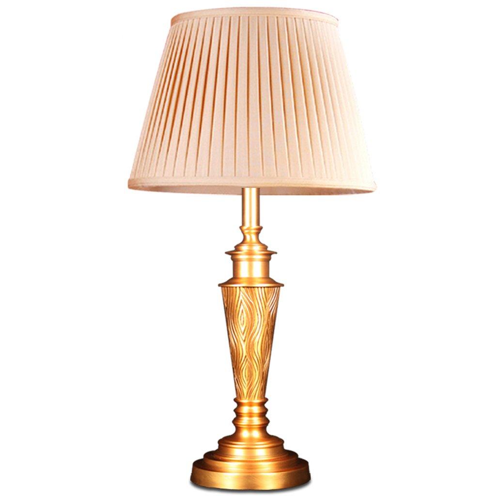 Hanlon E27-Schraubsockel, Tischlampe Europäische Luxus Modern Wohnzimmer Schlafzimmer Bedside Lampe Dekoration Einfache Kupfer Pure Kupfer Kristall Lampe ( größe : Große )