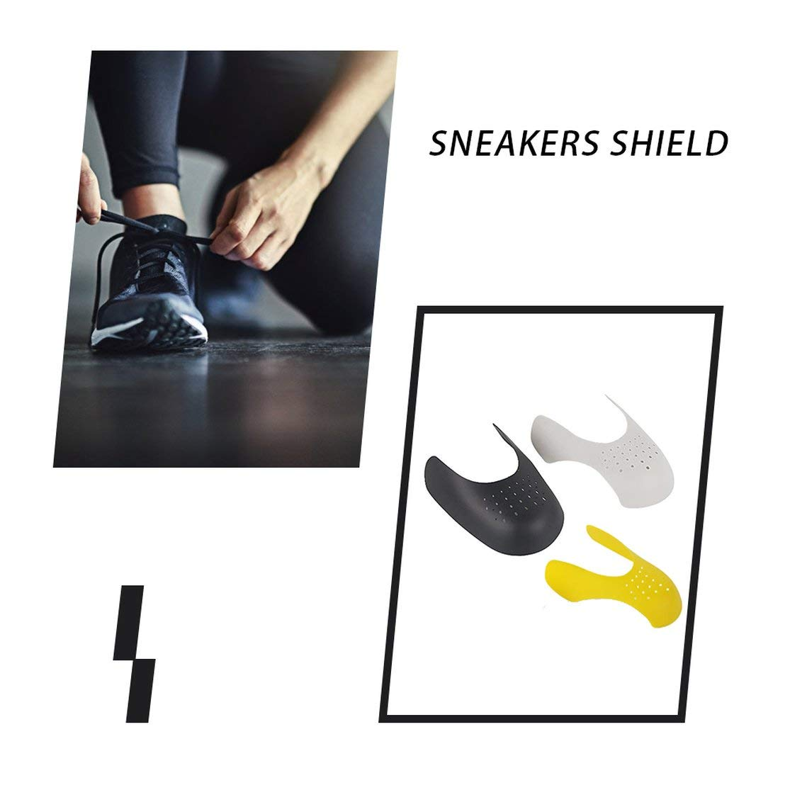 Color:gray Kaemma Embout anti-plis Artefact anti-plis Support de chaussures Support de chaussures Film anti-rides St/ér/éotype Anti-plis Sneaker Shield