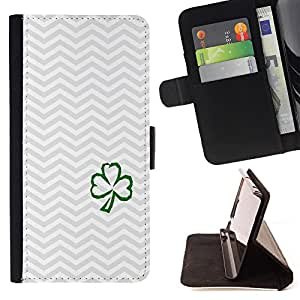 - Good Luck Lucky - - Monedero PU titular de la tarjeta de cr?dito de cuero cubierta de la caja de la bolsa FOR Sony Xperia M2 Retro Candy
