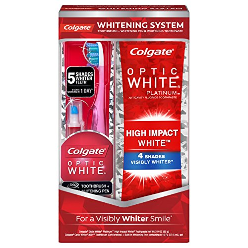 Colgate Optic White Toothpaste and Whitening Pen 2-in-1 Teeth Whitening (White Whitening Kit)