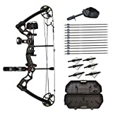 Southland Archery Supply SAS Rage 70 Lbs 30'' Compound Bow (Black with Travel Package)
