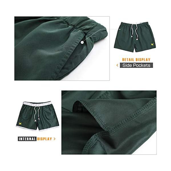 Lachi Costume Uomo Mare Asciugatura Rapida Costume da Bagno Pantaloncini Sportivi con Coulisse Taschino Serf Nuoto… 5 spesavip