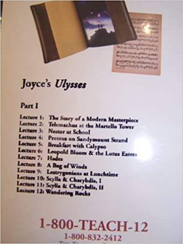 Joyces Ulysses The Teaching Company 24 Lectures