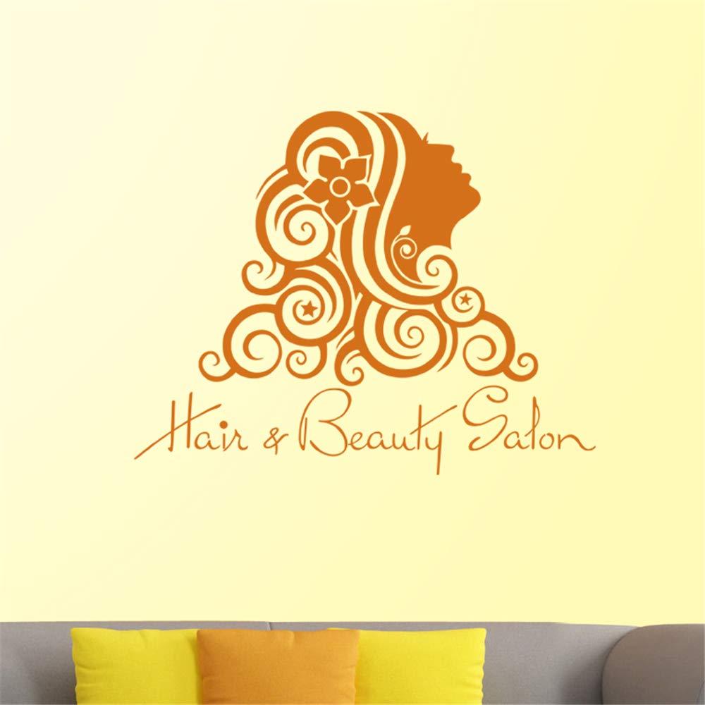 Super Lyclff Hair Salon Sticker Beauty Salon Girl Decal Haircut Download Free Architecture Designs Scobabritishbridgeorg