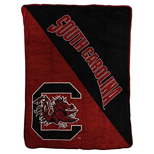 The Northwest Company NCAA Half Tone Super Soft Plush Throw Blanket (South Carolina Gamecocks) (Carolina Plush)