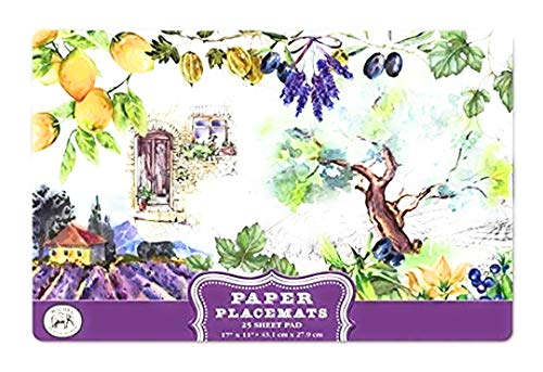 Michel Design Works 25 Count Paper Placemats, Campagna