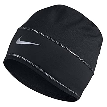515781e742bd95 Nike U Nk Beanie Skully Run Hat, Black/Reflective Silver, One Size:  Amazon.co.uk: Sports & Outdoors