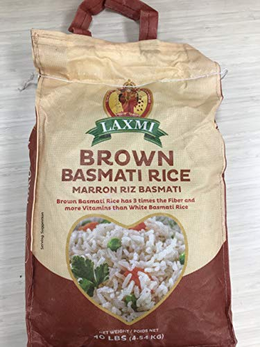 Laxmi All-Natural Brown Basmati Rice, 10 Pounds (Best Quality Rice In Pakistan)