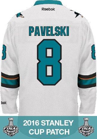 Joe Pavelski San Jose Sharks 2016 Stanley Cup Patch Reebok Premier Away NHL Jersey