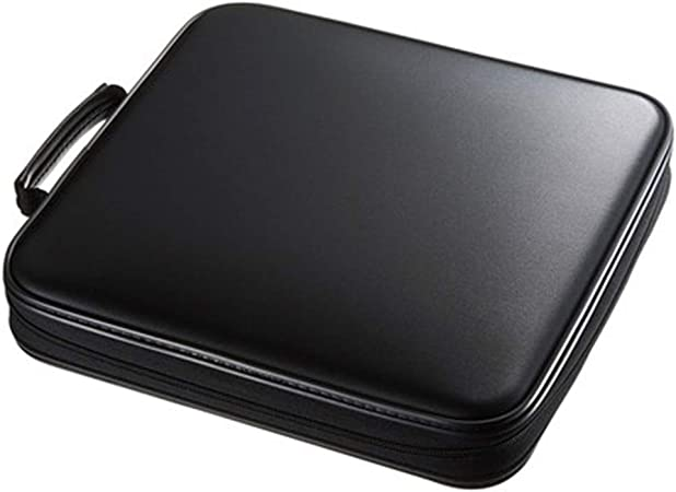 WanuigH-Home Registro de Almacenamiento Estuche de Transporte 160 Capacidad de CD Mano Llevar a la Caja de Almacenamiento de CD Caja compacta y fácil de almacenar for Coches Inicio para los álbumes: