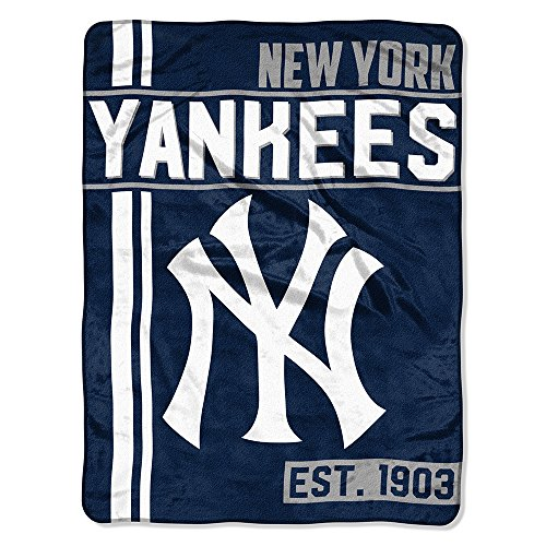 The Northwest Company MLB New York Yankees Micro Raschel Throw, One Size, Multicolor